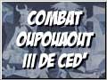 combat oupouaout iii sur fond de Guernica
